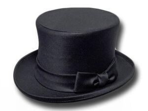 nuovo arrivo migliore a buon mercato Liquidazione del 60% Dettagli su Cappello a cilindro raso top quality nero sposo