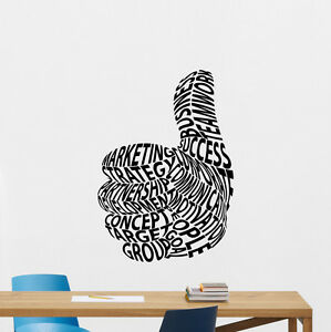 Office Wall Decal Quote Vinyl Sticker Workplace Business - Custom vinyl decals quotes   beginning business