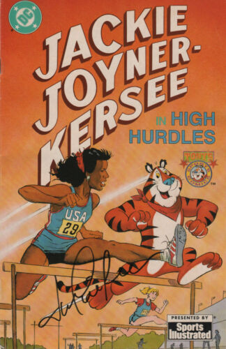Jackie Joyner Kersee USA Olympic SIGNED DC Comic Book by Sports Illustrated COA!