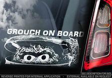 Grouch on Board - Car Window Sticker -Sesame Street Oscar Muppets Peeping Peeper
