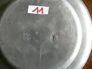 Rarität fast 200 Jahre alter Zinn Teller Zinnteller massiv Zinn 3x gestempelt 11