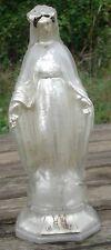 Sainte Vierge Marie Verre Eglomisé XIX ème siècle