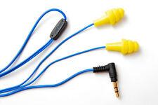 Plugfones - Earphones Yellow Headphones Earplugs 3.5mm jack Plug mp3 Player
