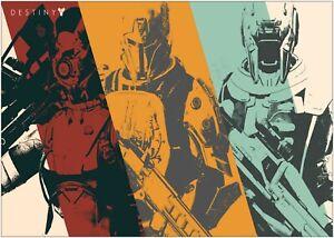 A0 A1 A2 A3 Maxi Destiny Game Character Large Poster Wall Art Print