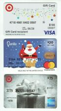 Credit Debit Charge Gift Cards - LOT of 3 Diff / Santa - Zero Balance / No Value