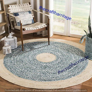 Indian Jute Round Floor 3x3 Ft Carpet