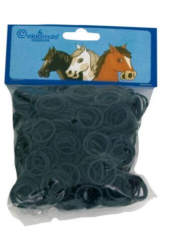 Eldorado schwarz Mähne Gummis Mähnengummis im Beutel