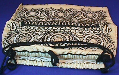 Vintage Silk Embroidered Purse Handbag & Box 40's-