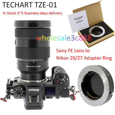 TECHART TZE-01 Auto Focus Adapter for Sony FE Mount Lens to Nikon Mount Camera Z6 Z7