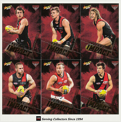 3 2009 Select AFL Color Figurine picture card Team Set Essendon