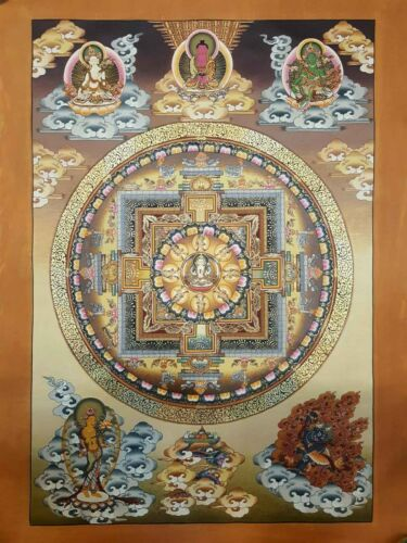 US SELLER,Tibetan Buddhist Chenrezig thangka art poster home accent wall