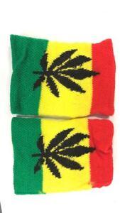 Schweisband-Set-Sport-Wristband-Bracelet-connecte-Bracelet-Tennis-Bracelet-Jamaica-Leaf
