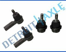 New 4pc: Lower Ball Joints + Outer Tie Rods for 2005-15 Toyota Tacoma 2WD 5-Lug