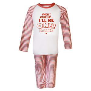 Personalised When I Wake 1 Pyjamas Birthday Children/'s Pjs Birthday Gifts