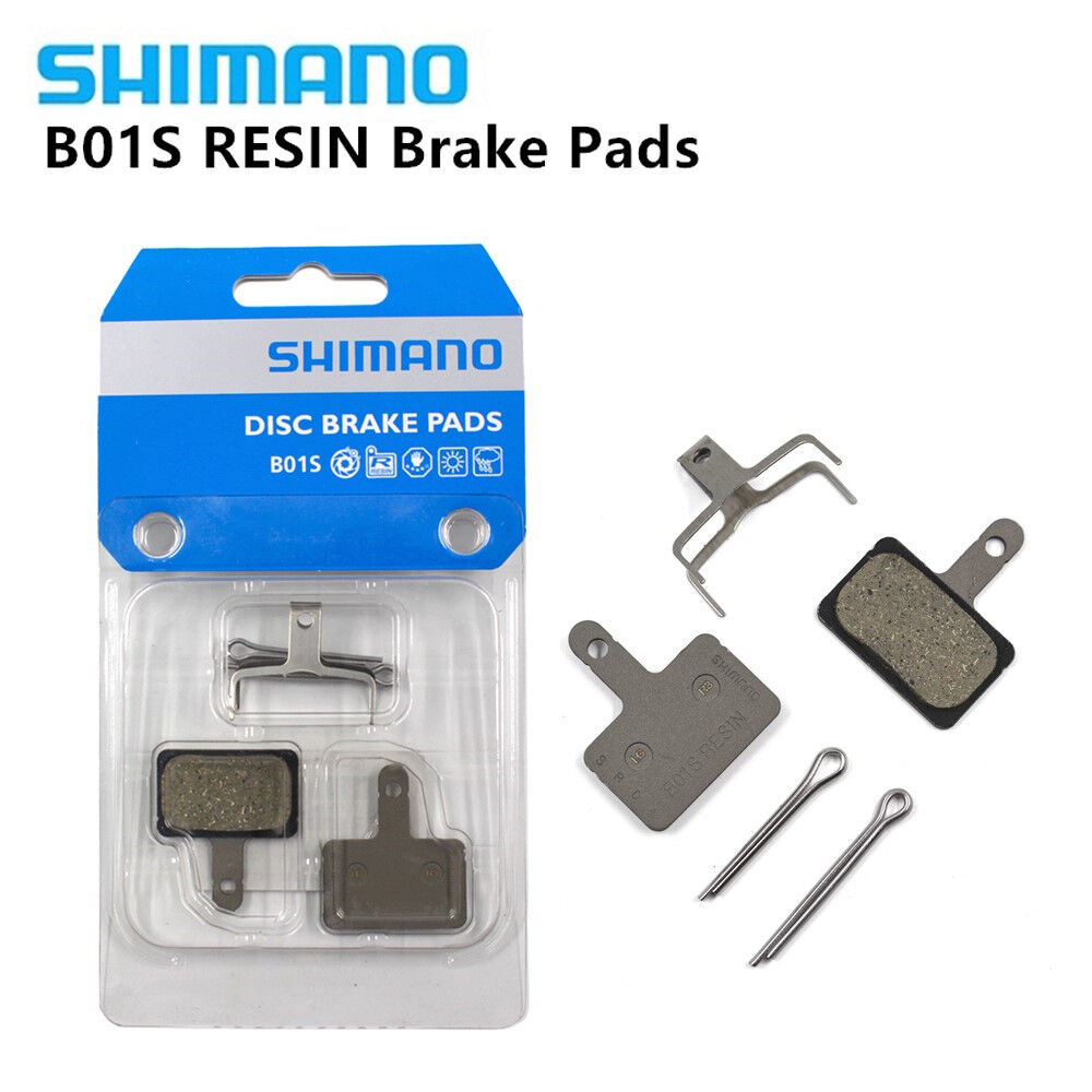 Original Shimano Resin B01S MTB Disc Brake Pads W// Spring/& Pin for M355 NEW