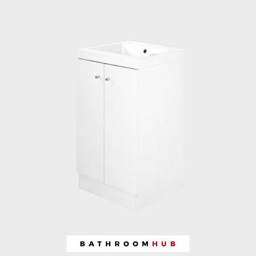 Alpine Duo 500 IROISE salle de bain Vanity Unité Seulement-Brillant Blanc