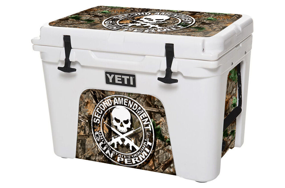USATuff Custom Cooler Wrap fits YETI YETI YETI Tundra 105qt L+I 2nd Amend WDland Camo 3532d7