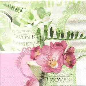 image is loading 4 single paper napkins for decoupage freesia vintage