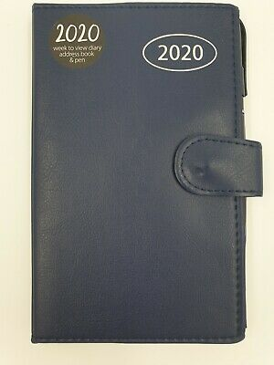 2019 Diary A5 Week to View Diary Personal Organiser with Address Book /& Pen