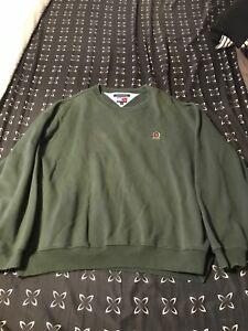 Vintage-Tommy-Hilfiger-Lion-Crest-Logo-100-Cotton-Knit-Sweater-Size-XL-Green