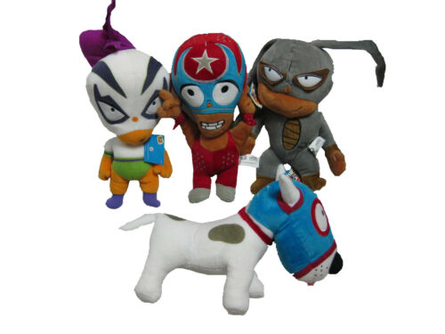 "** L@@K ** Set of 4 MUCHA LUCHA Plush 11/"" BRAND NEW with TAGS !!"