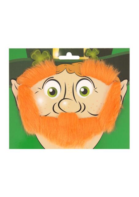 ST PATRICKS DAY LEPRECHAUN BEARD EYEBROWS SIDEBURNS IRELAND IRISH FANCY DRESS