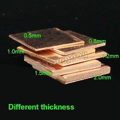 30pcs Laptop GPU CPU VGA Heatsink Copper Shim 15mmx(0.3,0.5,0.8,1,1.2,1.5) Pad