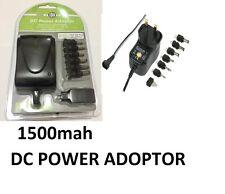 PIFCO UK MAINS POWER 3V-12V DC 5V1500mA POWER ADAPTER WITH USB PORT