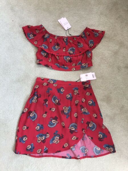 Bnwt Miss Selfridge Ladies Matching Skirt And Top 8-10
