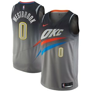 New 2018 Nike NBA OKC Thunder Russell Westbrook  0 City Edition ... d388b7e39923