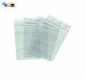 Lot 40 Sachets Plastique Transparent Fermeture Zip 100 x 150 mm pour emballage