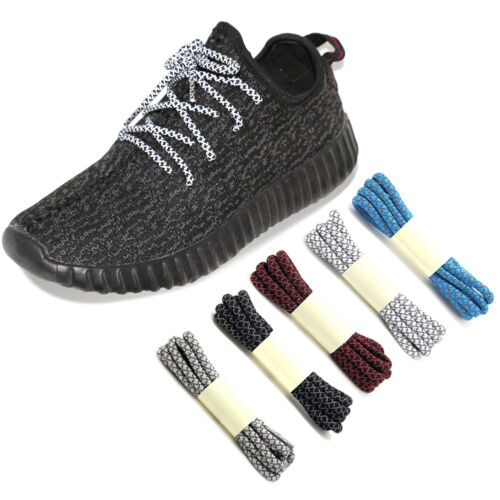 New Arrival 3M Reflective Round Sneakers Shoelaces Running Athletic Rope Laces