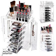 New Clear Acrylic Display Makeup Cosmetic Jewelry Box Organizer Drawer Storage