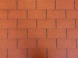 Dachschindeln-15-m-Rechteck-Form-Ziegelrot-5-Pakete-Schindeln-Dachpappe