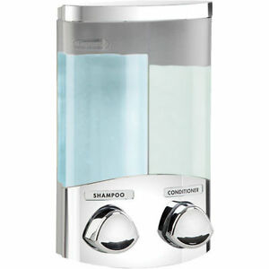 Chrome duo croydex soap shower gel shampoo bathroom pump dispenser wall mounted ebay - Distributeur de gel douche mural ...