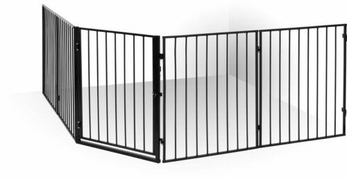 ib style® CATO Barrière de sécurité métal Barrière cheminée Pare-feu Bébé 300 cm