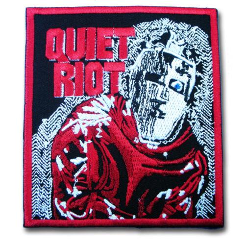 M Size Quiet Riot Patch Embroidered Heavy Metal Rock Band Applique Emblem Rocker