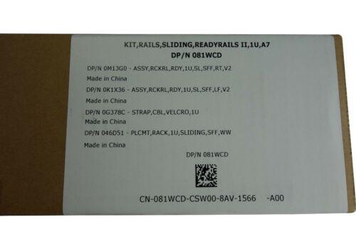 Dell Poweredge R320 R420 R430 R620 R630 R640 1U Sliding Ready Rails II A7 81WCD