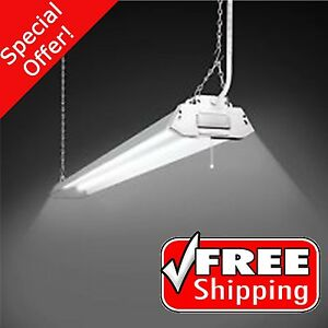2-Light White Fluorescent Cold Weather Shop Lights Steel ...