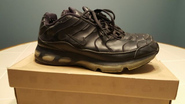 best website a6f5a 5a6c7 RARE Authentic Nike Air Max TN 360 Tuned Plus Size 9.5 Triple Black Leather