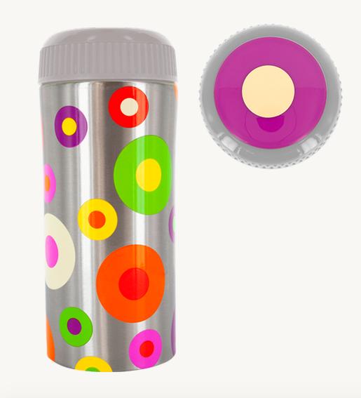 bf0227f2e44 Pylones Thermos Vacuum Mug Silver Spots Travel Cup Tea Coffee 10oz Polka  Dots