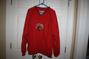 Men-University-of-Maryland-Terps-Game-Time-Red-Golf-Pullover-Size-XL