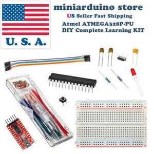 ATmega-328P-bricolage-Arduino-Learning-Kit-FT232RL-22pF-100nF-16-MHz-Cristal-Breadboard