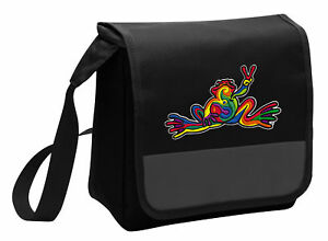 e0e3e02c9390 Details about Peace Frogs Lunch Bag Peace Frog Lunchbox Cooler ADJUSTABLE  SHOULDER BAG