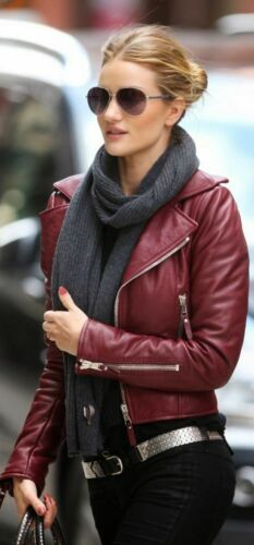 Trendy Women/'s Authentic Lambskin Leather Motorcycle Slim fit Designer Jacket WJ