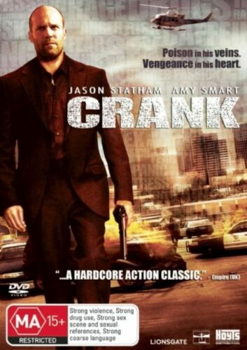 1 of 1 - Crank Region 4 DVD, 2007 New Sealed Jason Statham