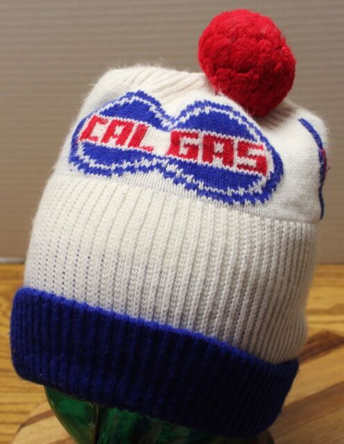 VINTAGE CAL GAS CALIFORNIA GAS WINTER SKI STOCKING HAT CAP WITH POM ... a8d9e097406