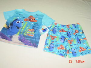 NWT-Toddler-Boy-Girl-2-piece-Dory-Disney-Summer-Pajama-Blue-Fish-sleep-outfit