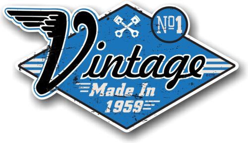 Vintage made in 1959 vieilli retro cafe racer style vinyle moto autocollant voiture