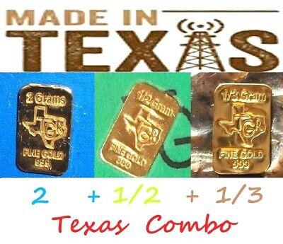 GOLD 1 /& 1//2 GRAM 24K PURE TGR BULLION BARS 999.9 THE SUPER PREPPERS COMBO PACK